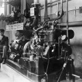 Sprinkleranlage mit modernem Dieselmotor (1924)